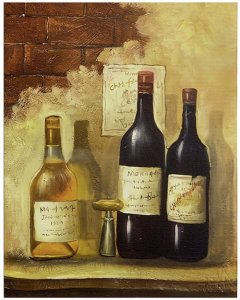 Canvas Wall Art - Wine Bottles